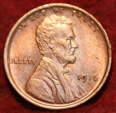 Uncirculated 1916  Philadelphia Mint Copper Lincoln Wheat Cent
