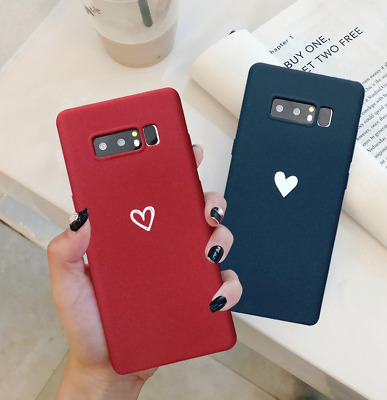 Slim Fit Cute Love Heart Soft TPU Cover Phone Case For Galaxy S8 9 Plus Note 8 9