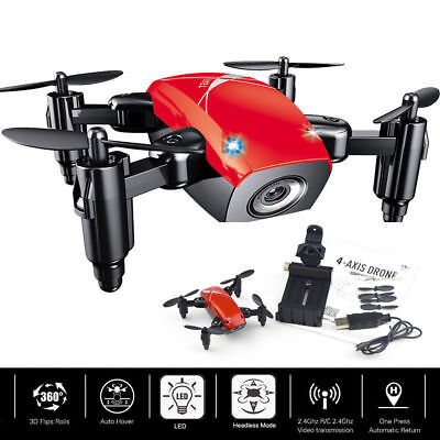 Helicopter Radio Remote Control Aircraft Foldable Quadcopter RTF Pocket Drone A