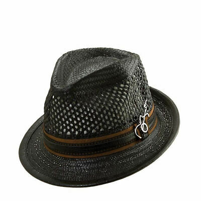 f5ece668a CARLOS SANTANA * Mens Blue Fedora Hat * New Winter Trilby Wool ...