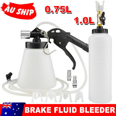 1L Hydraulic Fluid Fill Bottle Kit Air Brake Bleeder Set Pneumatic Clutch Vacuum