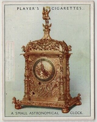 1587 Small German Brass Astronomical Clock 1920s Ad Trade Card