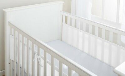 BreathableBaby 2 Sided Mesh Cot Liner - White *Brand New*