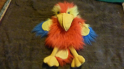 """The Puppet Company Large 17""""in Multicoloured Parrot, Squawks"""