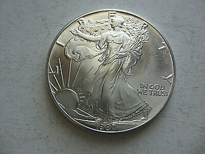 1987 Silver American Eagle Coins BU Uncirculated