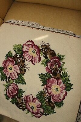 The Royal School Of Needlework Tapestry/needlepoint Cushion Cover Complete Mouse