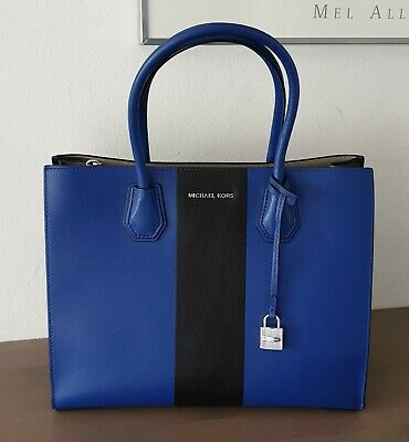 MICHAEL KORS TASCHE MERCER LG Center Stripe Leder electric
