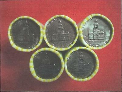 """KENNEDY HALF DOLLAR ROLLS (20 COINS) w/SILVER or GOLD PLATED COIN """"GUARANTEED"""""""