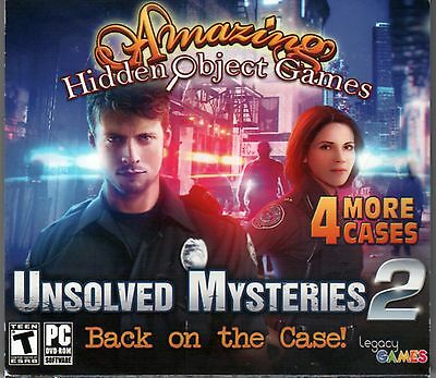 UNSOLVED MYSTERIES 2 Amazing Hidden Object Games 4 PACK PC Game NEW