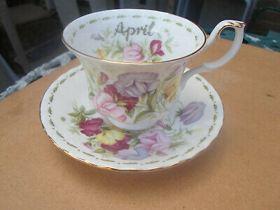 "Royal Albert Flower of the Month "" APRIL  "" Cup and Saucer"