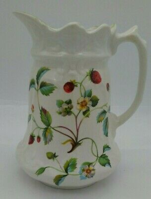 James Kent Old Foley Staffordshire Strawberry Pitcher Vintage Cottage Decor