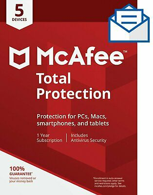 McAfee Internet Security 2019 4 Years 5 PCs / Windows version