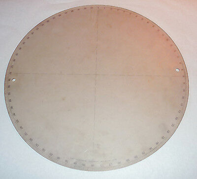 """Optical Comparator Plastic Plate, Gage Company, 14 1/2"""" inch"""