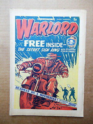 WARLORD  #/N0 4 OCTOBER 19th 1974 - VINTAGE UK COMIC ISSUE NUMBER 04
