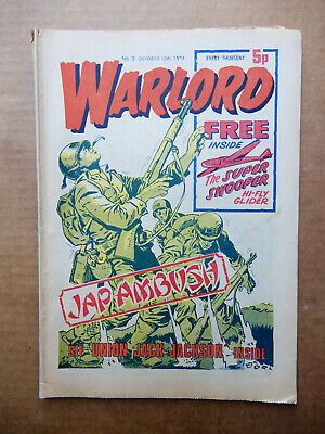 WARLORD  #/N0 3 OCTOBER 12th 1974 - VINTAGE UK COMIC ISSUE NUMBER 03