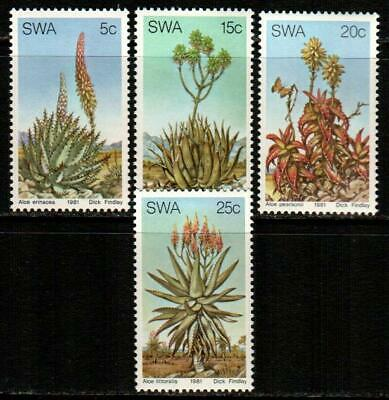 SWA - SOUTH WEST AFRICA 1981 - Aloe Flowers in S.W.A.SG 377-380 MNH FAUNA