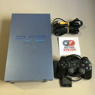 Consola PlayStation 2  PS2  Aqua edition, cables y mando