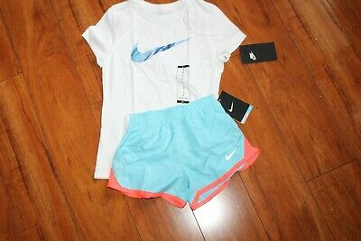Nwt Girls Nike Sz 6 Shorts Blue Orange, Shirt