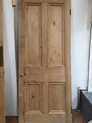 Large Victorian Reclaimed Wooden 4-panel Door
