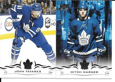 18-19 Upper Deck Series 1 & 2 Toronto Maple Leafs 11 Card Team Set Tavares