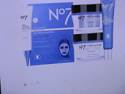 No7 LIFT & LUMINATE TRIPLE ACTION COLLECTION RRP £121.00