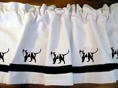 Calico Cat Window Valance Curtain ..Your Choice of Colors*