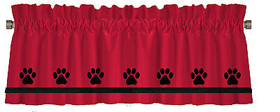 Paw Print Dog or Cat Paw Prints Window Valance Curtain in Your Choice of Colors