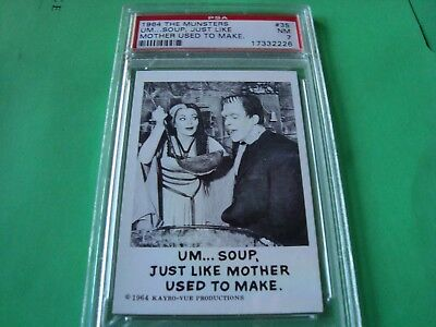 "1964 THE MUNSTERS card  #35  ""...mother used to make""  psa 7 (226)"