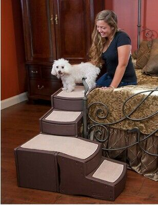 NEW Pet Gear Easy Steps Dog Cat Bed Stair Ladder with Storage PG9760CH