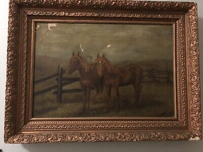Charming Vintage framed oil painting on canvas