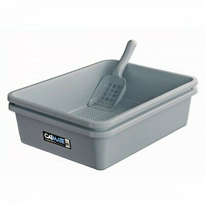 Cat Mate 3 Piece Litter Kit Charcoal Sieve Tray with Scoop Charcoal (CLCMLTC)