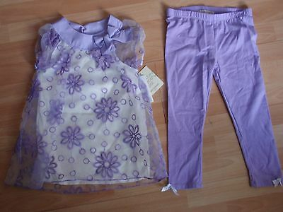 Nwt Girls Self Esteem Sz 6 Purple Shirt, Leggings