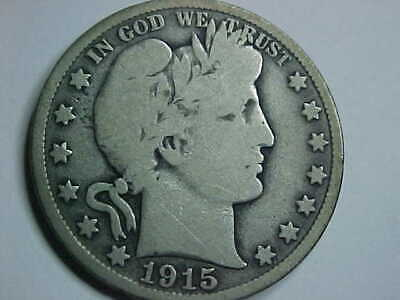 1915 S BARBER HALF DOLLAR 50cents  SILVER COIN  **MUST SEE**  San Francisco