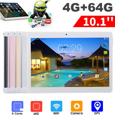 10.1'' 4GB+64GB Android Phablet Octa 8 Core Camera SIM WIFI bluetooth Tablet PC