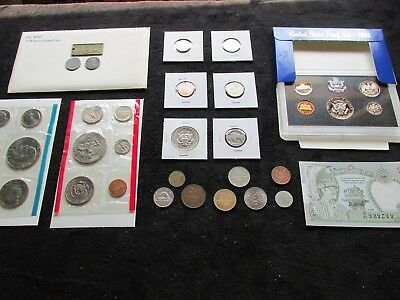 OLD COINS Lot MINT+PROOF++1943 WWII wheat + 1942 Jefferson +BU 1954 CENT++++ #19