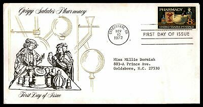 GEIGY PHARMACY 8c ISSUE 1972 CACHET ON UNSEALED FDC INSERT