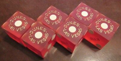 Lot of 6 - The Dunes Casino Las Vegas, NV Dice - All #'s matching