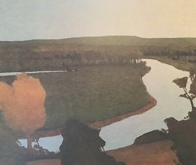 Russell Chatham original lithograph Fall On Arkansas River signed #'d dated Vtg