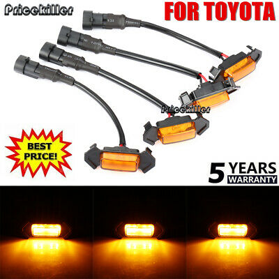 Set of 4 GRILLE LED LIGHTS FOR TOYOTA TACOMA TRD GRILL LEDS AMBER 2016-2018 NEW~
