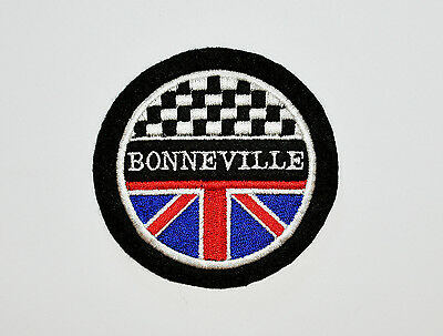 Classic Triumph Bonnevlle Embroidered Motorcycle Patch
