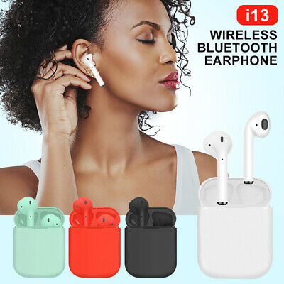 i13 TWS Bluetooth 5.0 Earbuds Headset Wireless Earphones Stereo Headphones Touch