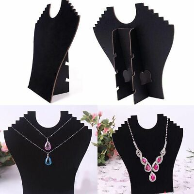 Necklaces Bust Jewelry Pendant Chain Display Holder Stand Neck Velvet Easel