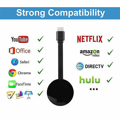 WiFi Display Dongle sans Fil TV Récepteur Phone HDMI TV Miracast Airplay Netflix
