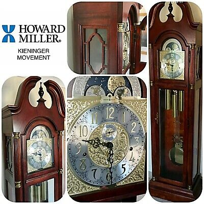Howard Miller Long Case Grandfather Clock with Kieninger Movement Mahogany