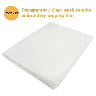 New brothread Transparent Wash away - Water Soluble Embroidery Topping Film