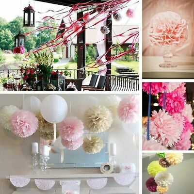 Large Paper Tissue Rose Flower Wall Hanging Decoration Summer Party