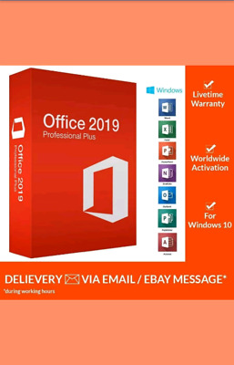 Office 2019 Pro Plus Key 32/ 64Bit Download License for 1PC Genuine