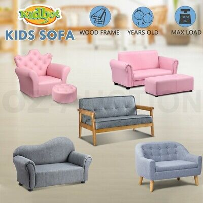 Kidbot Kids Sofa Single&2 Seat Couch Armchair Children Lounge Chair 4 Models New