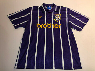 Manchester City 1992 / 93 XL shirt Jersey Umbro Brothers vintage N424