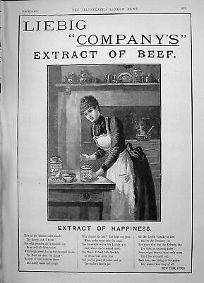 Old 1891 Liebig Extract Beef Mappin Webb Clarke'S Pyramid Candle Ligh Victorian